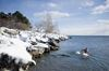 Winter swimmers brave the cold