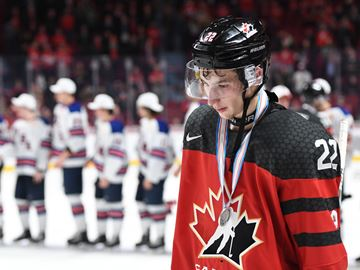 World Junior 2017 Canada vs. USA Cirelli dejected