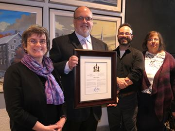 High-tech expert and volunteer receives prestigious civic honour