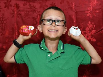 Milton boy's determination to fund cancer cure rock steady
