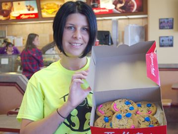 Alliston Smile Cookies supporting My Sister's Place