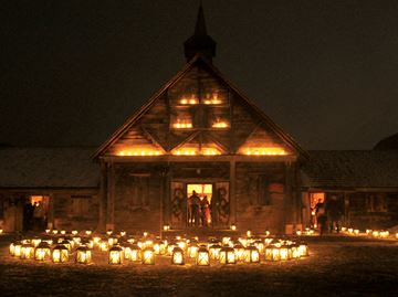 Peaceful glow illuminates Sainte-Marie among the Hurons