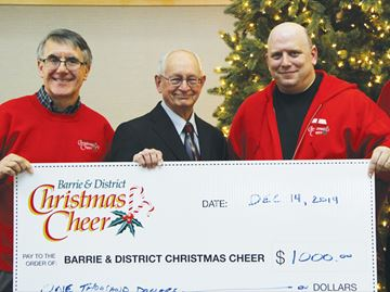 A special donation to Christmas Cheer