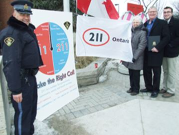 211 flag flies in Orillia