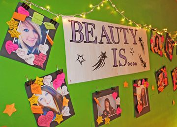 Parry Sound High School students showcased their inner and outer beauty in a one-day exhibit titled Beauty Is... Students were invited to write positive comment about their peers and post them to the photos.
