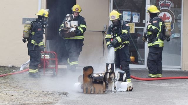 firefighters contain electrical fire at smiths falls