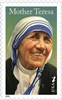 The  stamp showing a portrait of Mother Teresa was released Thursday during a ceremony at Washington's National Shrine of the Immaculate Conception.