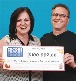 Barrhaven couple wins $100,000 in lotto– Image 1