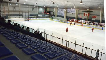 Rinkside seats at the Lindsay Recreation Complex