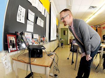 Skype teaching Ryan Tindale