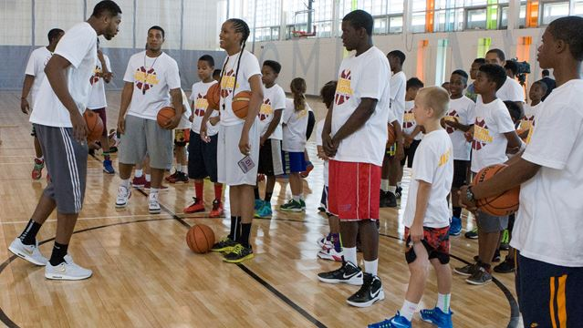 Tristan Thompson, camp counsellor