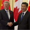 Harper presses human rights in China