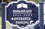 Highland Gate Golf Club sign