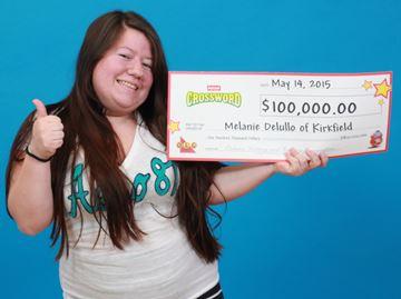 Lottery winner Melanie Delullo