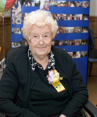 Edith Flood at her 100th Birthday party