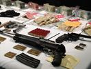 Cash, guns seized