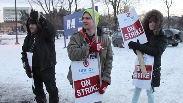 Business as usual for RA Centre as employees form picket lines