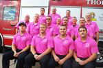 Firefighters go pink
