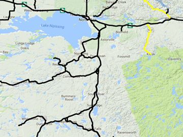 North Bay, Almaguin road conditions, 6:14 a.m., Feb. 21