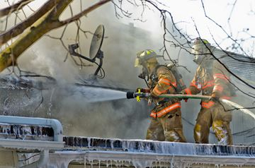 Devastating blaze doesn't dampen spirits of community