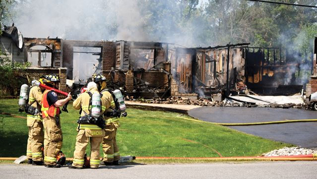 Fire guts Greely home