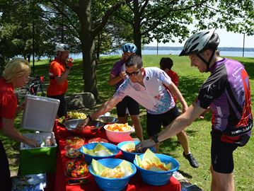 Friends for Life Bike Rally refreshments