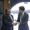 Naheed Nenshi and Justin Trudea