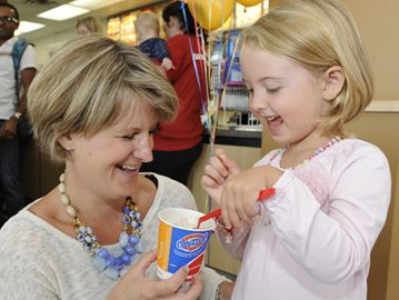 Oakville SickKids ambassador Marlowe serves sweets on Miracle Treat Day