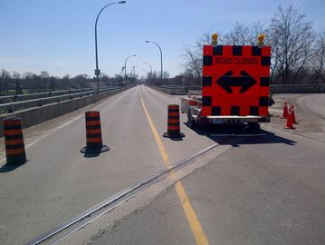 The Burgoyne Bridge was closed Sunday after an engineering consultant discovered a potential safety issue.