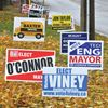 Uxbridge municipal election signs