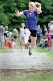 Janice Small from W.C. Little Elementary School competed in the triple jump event.
