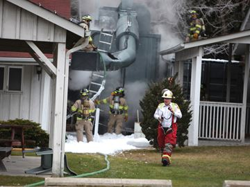 Hoselton Sculptures fire