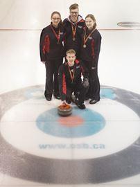 Hayden Huskies defend boys' curling championship