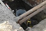Sanitary sewer pipe repaired in Richmond