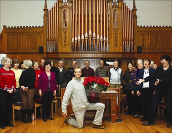 Local chorale group, Vocalese, rehearse Monday night for their annual seasonal concert at Trinity St. Andrews United Church, 58 Prince Edward Street, Brighton.