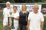 Mixed triples trophy presented to Midland lawn bowlers