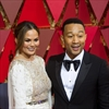 Chrissy Teigen snoozes at the Oscars-Image1