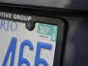 Licence sticker