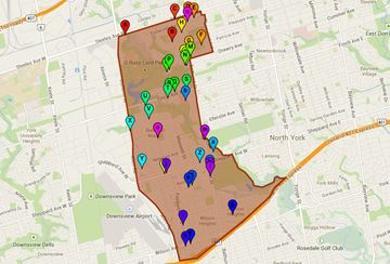 Ward 10 York Centre voting locations