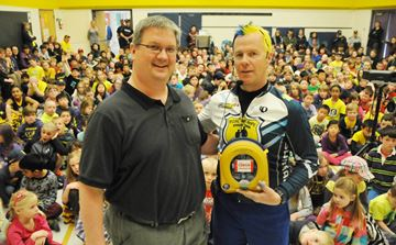 Pedal For Hope Defibrillator Donation