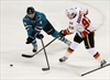 Ward, Marleau help lead Sharks past Flames 5-2-Image1