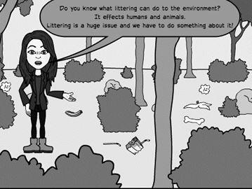 Anti-littering cartoon