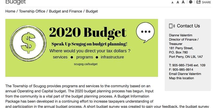 Attempts made to 'skew' budget survey results, alleges Scugog
