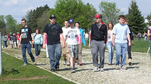Mental health walk at sci may 8 for Door 84 youth centre york