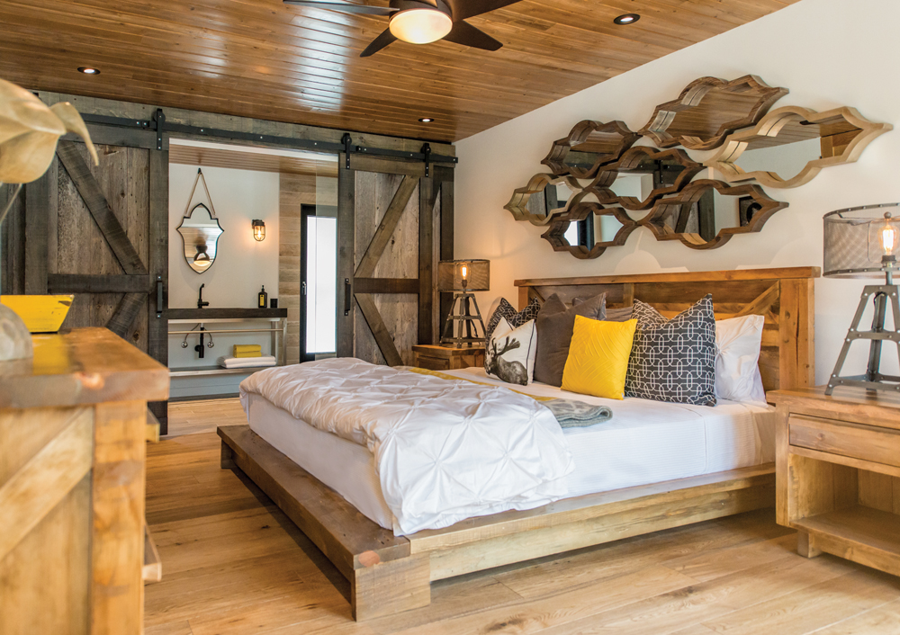 Artisan Barn Doors In The Master Bedroom Of Plan B