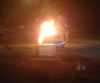 Car, park set ablaze overnight in Bradford