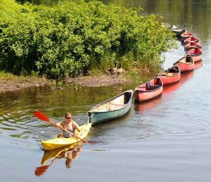 Speed River paddler