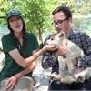 Meet timber wolf pups Sonya and Sorita