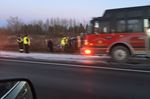 Rollover on Hwy. 401