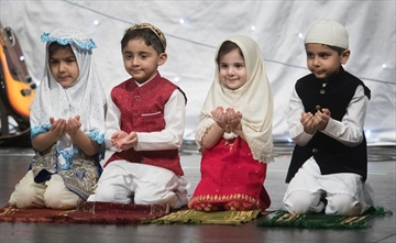 Children don traditional costume at the Jinnah Cultural Society of Hamilton's celebration of Pakistan Day Saturday.